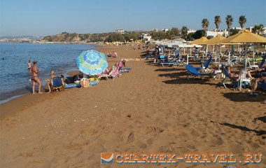 Пляж отеля Creta Palm Resort Hotel and Apartments 4*