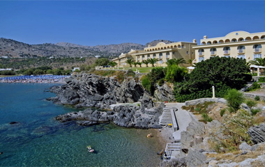 Пляж отеля Lindos Royal Village 4*