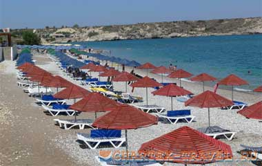 Пляж отеля Kolymbia Bay Art Hotel 3*