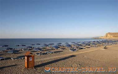 Пляж отеля Lindos Princess Beach Hotel 4*