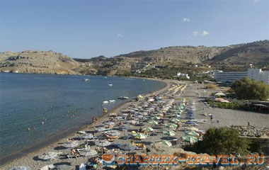 Пляж отеля Lindos Royal Hotel 4*